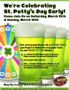 Celebrate St. Patty's Day Early at Scene75