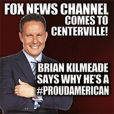Fox News Anchor Brian Kilmeade in Centerville July 4