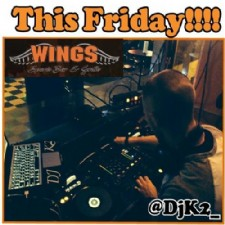 DjK2 Mixes Your Favorite Dance Music at Wings Sports Bar & Grille