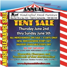 Dayton Ohio   Handcrafted Amish Furniture Annual Tent Sale