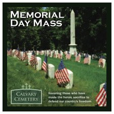 Memorial Day Mass at Calvary Cemetery