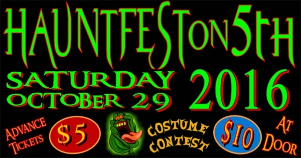 Hauntfest on Fifth 2016