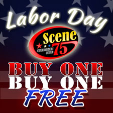 Scene75 Buy One Get One FREE attractions ~ Labor Day Special