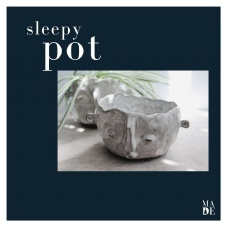 Sleepy Pot | Hand building with Clay