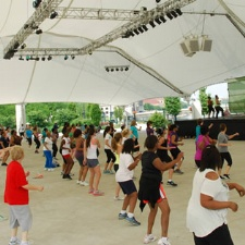 Free Zumba in the Park at Riverscape