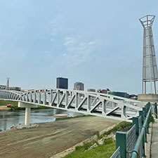 Deeds Point Pedestrian Bridge reopened today