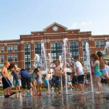 Interactive Fountains at The Greene Town Square