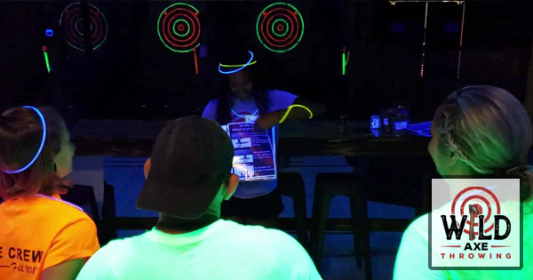 Cosmic Black Light Weekend at Wild Axe Throwing
