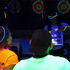 Cosmic Black Light Night at Wild Axe Throwing