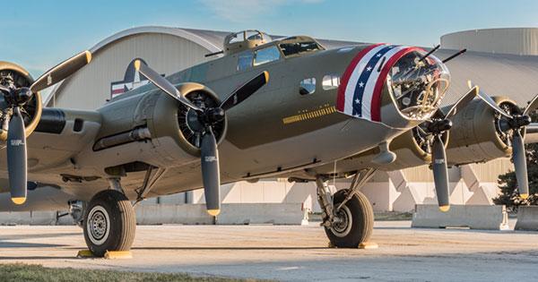 B-17F Memphis Belle on display in Dayton