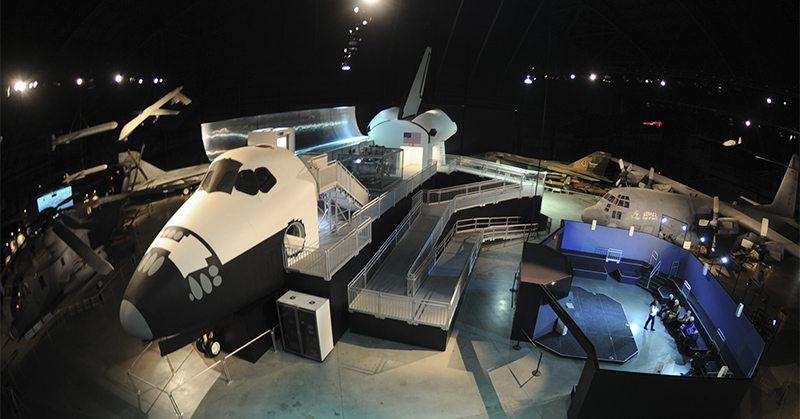 Space Shuttle Exhibit at the National Museum of the U.S. Air Force