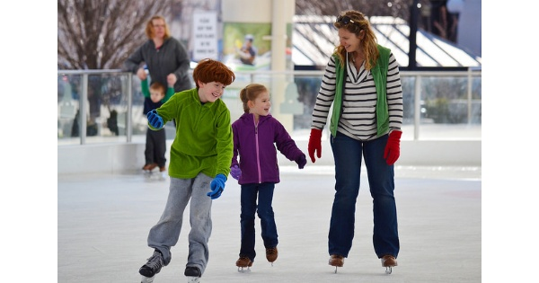 Ice Skating in downtown Dayton