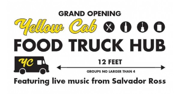 Food trucks, outdoor dining with social distancing at the Yellow Cab Tavern