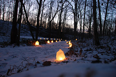 Aullwood Winter Luminary Walk