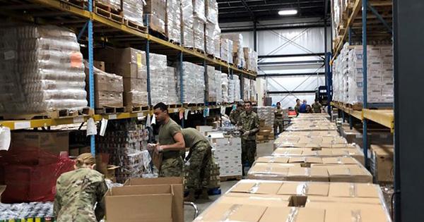Coronavirus: The National Guard helping Dayton Foodbank