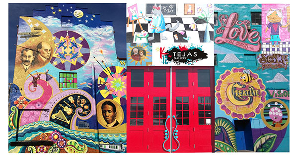 K12 Gallery and TEJAS take art to the streets - literally