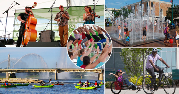 Festivals, Fitness, Music at RiverScape in August