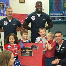 Thunderbirds Pay Special Visit To URS
