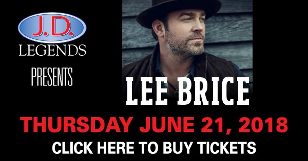 Lee Brice at JD Legends