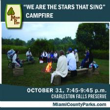 Campfire at Charleston Falls Preserve