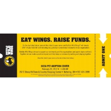 Eat Wings - Raise Funds for SICSA Pet Adoption Center