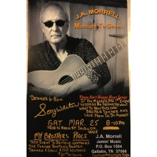 LIVE MUSIC by J.A. MORRELL (Dinner 6-8 and Show 8-10)