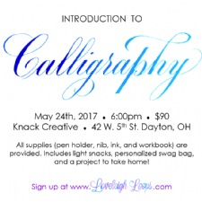 Intro to Calligraphy Workshop