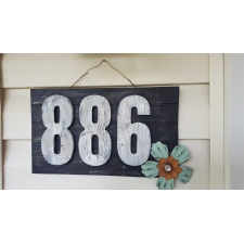 Crackle Paint House Number makeover