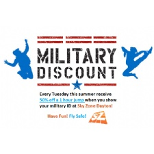 Military Tuesday at Sky Zone