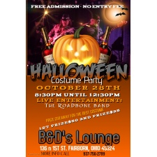 Halloween Costume Party at B&D's Lounge