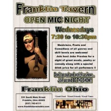 Music, Comedy, Poetry open mic at Franklin Tavern