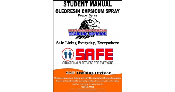 S.A.F.E. Pepper Spray Class