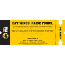 Eat Wings. Raise Funds. 4 Paws for Ability