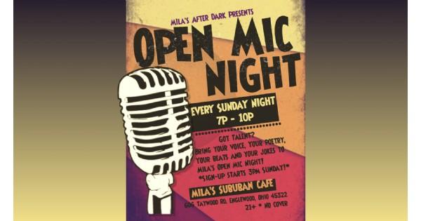 Open Mic Night at Mila's Suburban Cafe