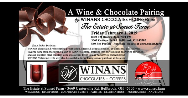 A Chocolate & Wine Pairing & Tasting by Winans at The Estate