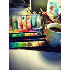 Watercolor Art Classes at Lula Bell