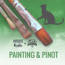 Painting & Pinot at the Gem City Catfe