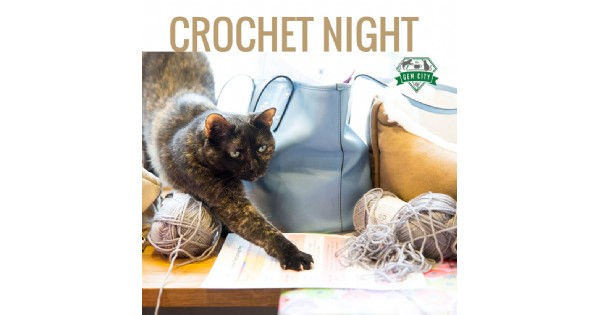 Crochet Night at the Catfe