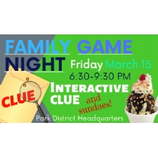 Family Game Night: Interactive Clue & Sundaes