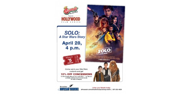 Cassano's Hollywood Film Series Presents Solo: A Star Wars Story