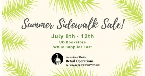 University of Dayton Bookstore Summer Sidewalk Sale