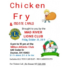 Mad River Lions Chicken Fry, Monte Carlo