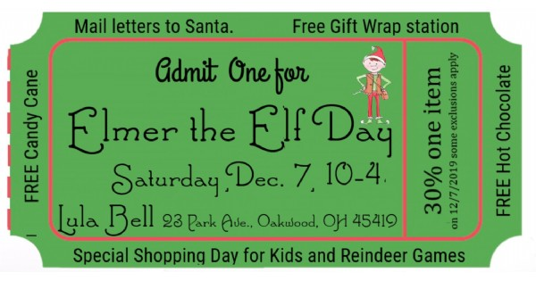 Elmer the Elf Day at Lula Bell