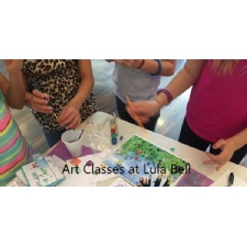 Art Classes for kids at Lula Bell - suspended