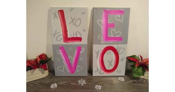 Couples Paint Night - L.O.V.E