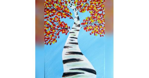 Paint Night - Birch Tree