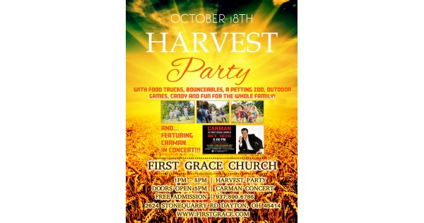 First Grace Harvest Party w/ a Live Concert By Carman