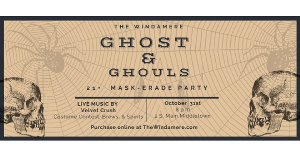 Ghost and Ghouls Mask-erade Party - canceled