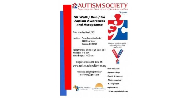 Dayton Autism Society's 5K Walk / Run for Autims Acceptance