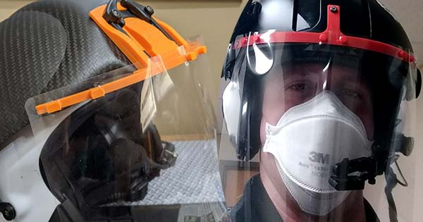 Dayton group designs helmet mounted face shields for emergency flight nurses